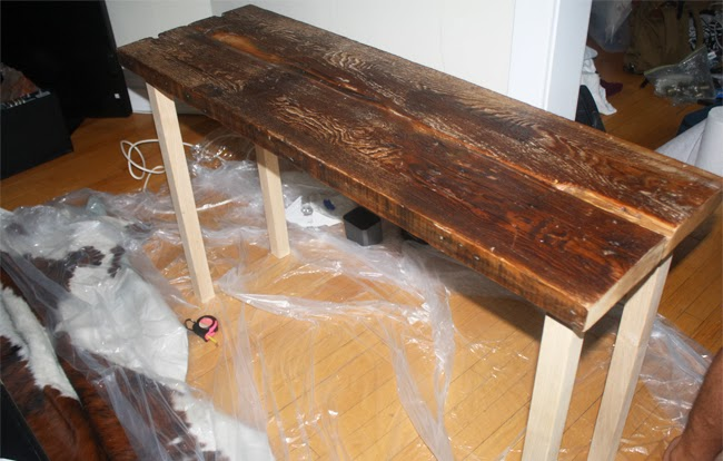 Furniture Legs Screw In diy :: reclaimed wood table | isn't that charming