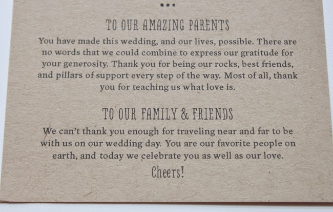 Thank Letter To Parents For Wedding: Vineyard Wedding Suite