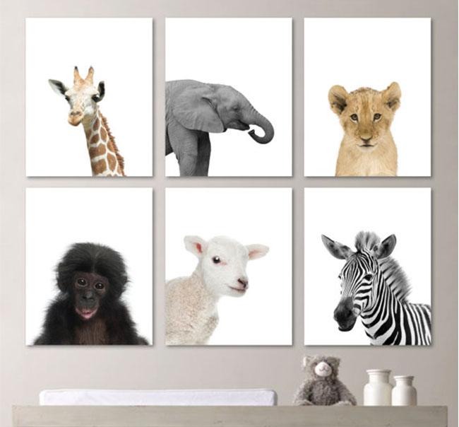 Animal prints for nursery