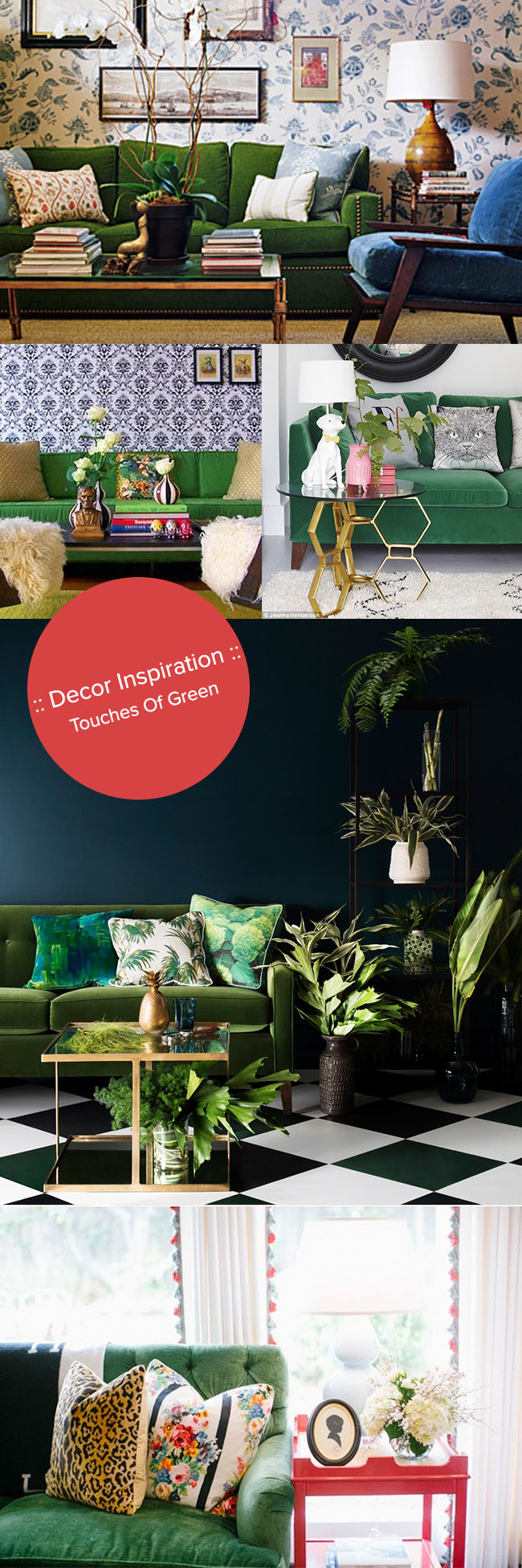 Decor Inspiration_Touches of Green in interior design