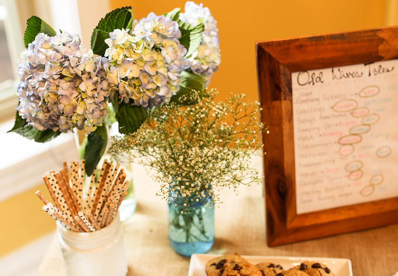 Babys breath for gender reveal party