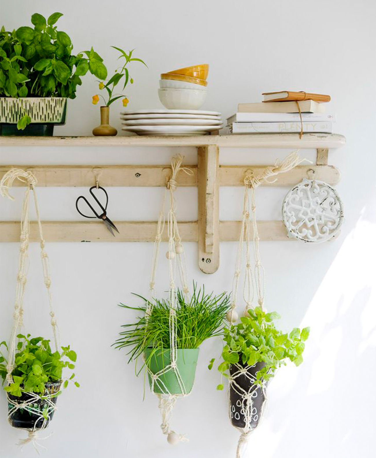 Hanging pots in home