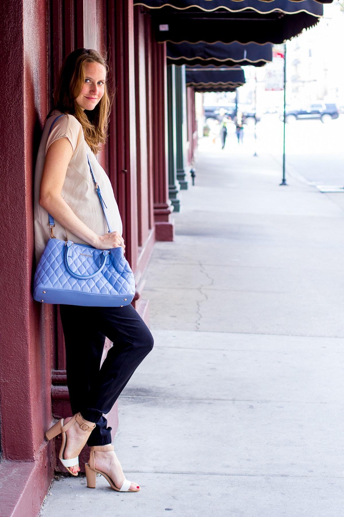 Vera Bradley Purse_Top US Fashion Blogger_How to style a blue purse-10