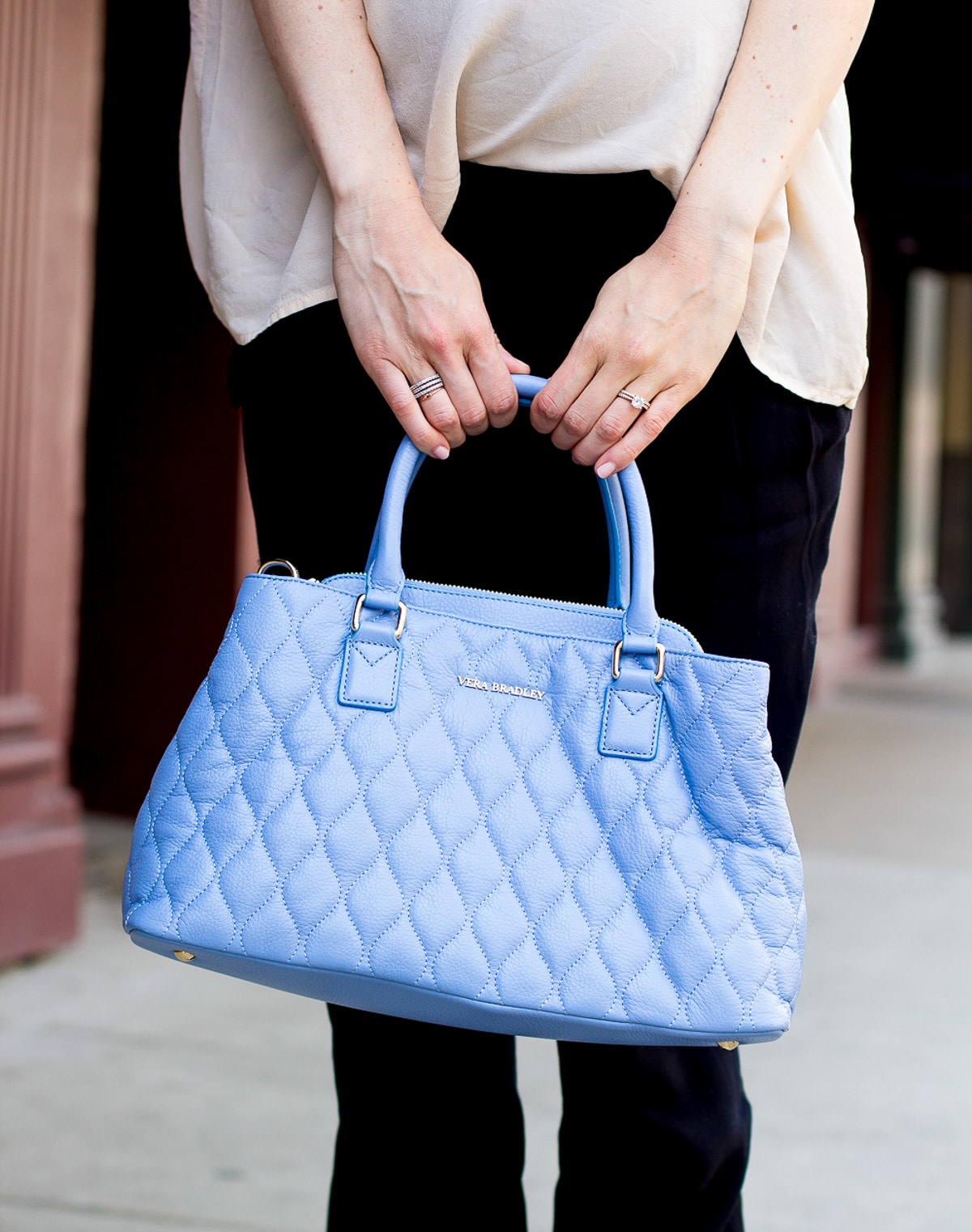 Vera Bradley Purse_Top US Fashion Blogger_How to style a blue purse-4