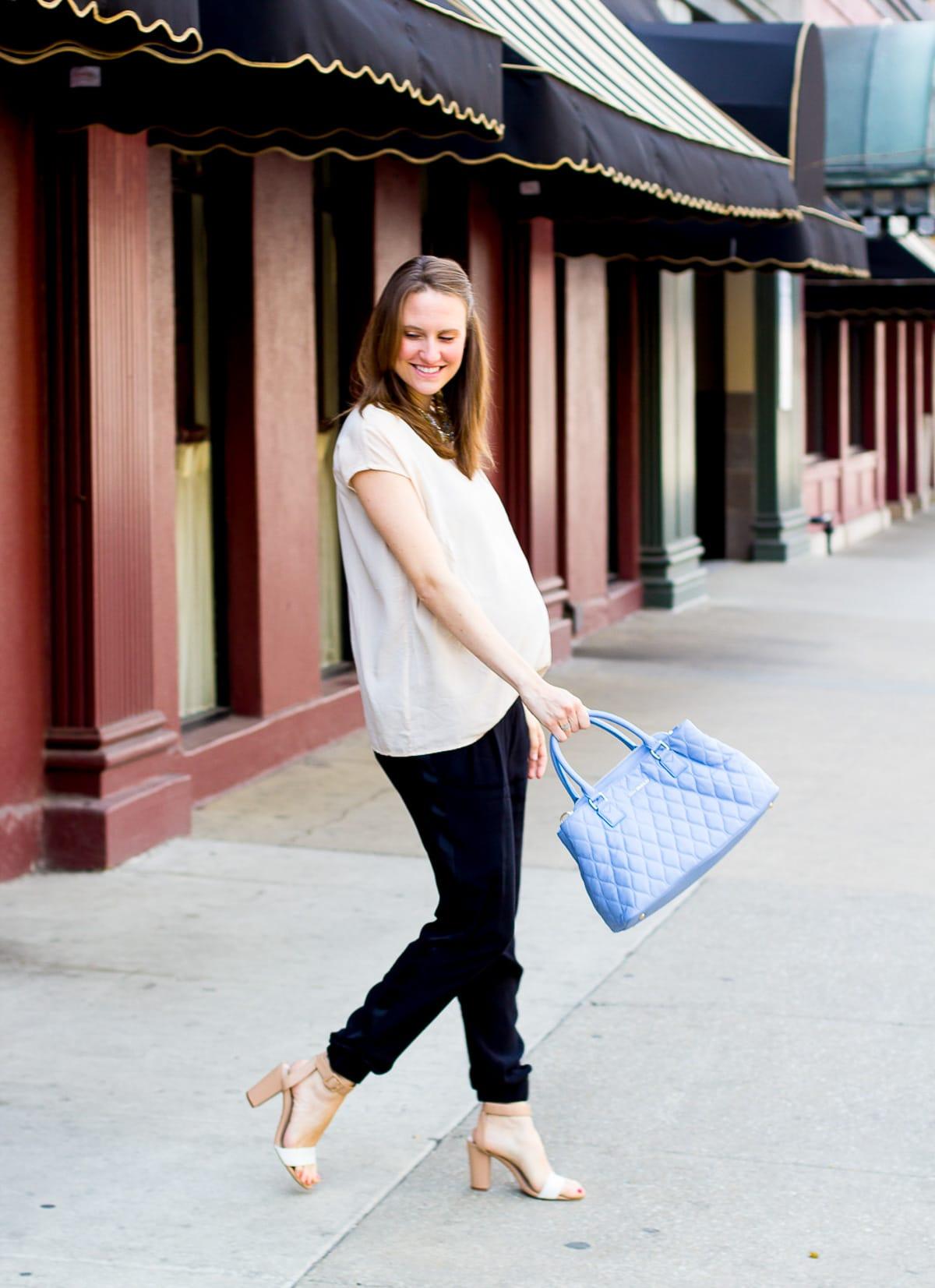 Vera Bradley Purse_Top US Fashion Blogger_How to style a blue purse-7