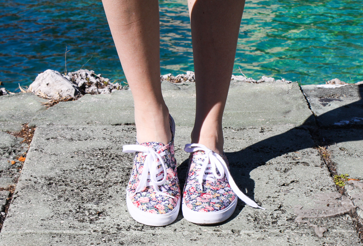 Target shoes, floral pattern