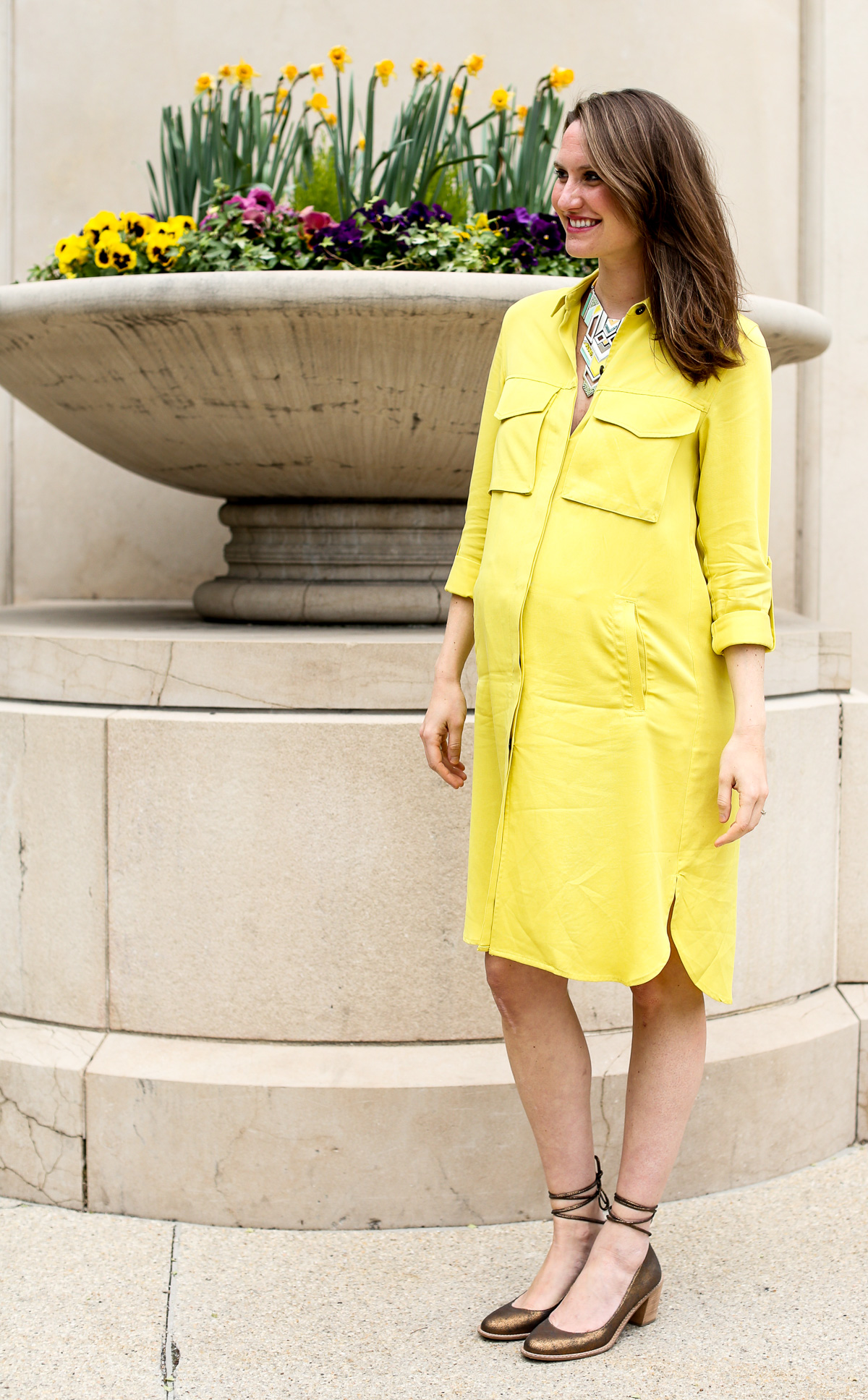 Pregnancy Fashion_Zara dress_Top Chicago Style Bloggers-3