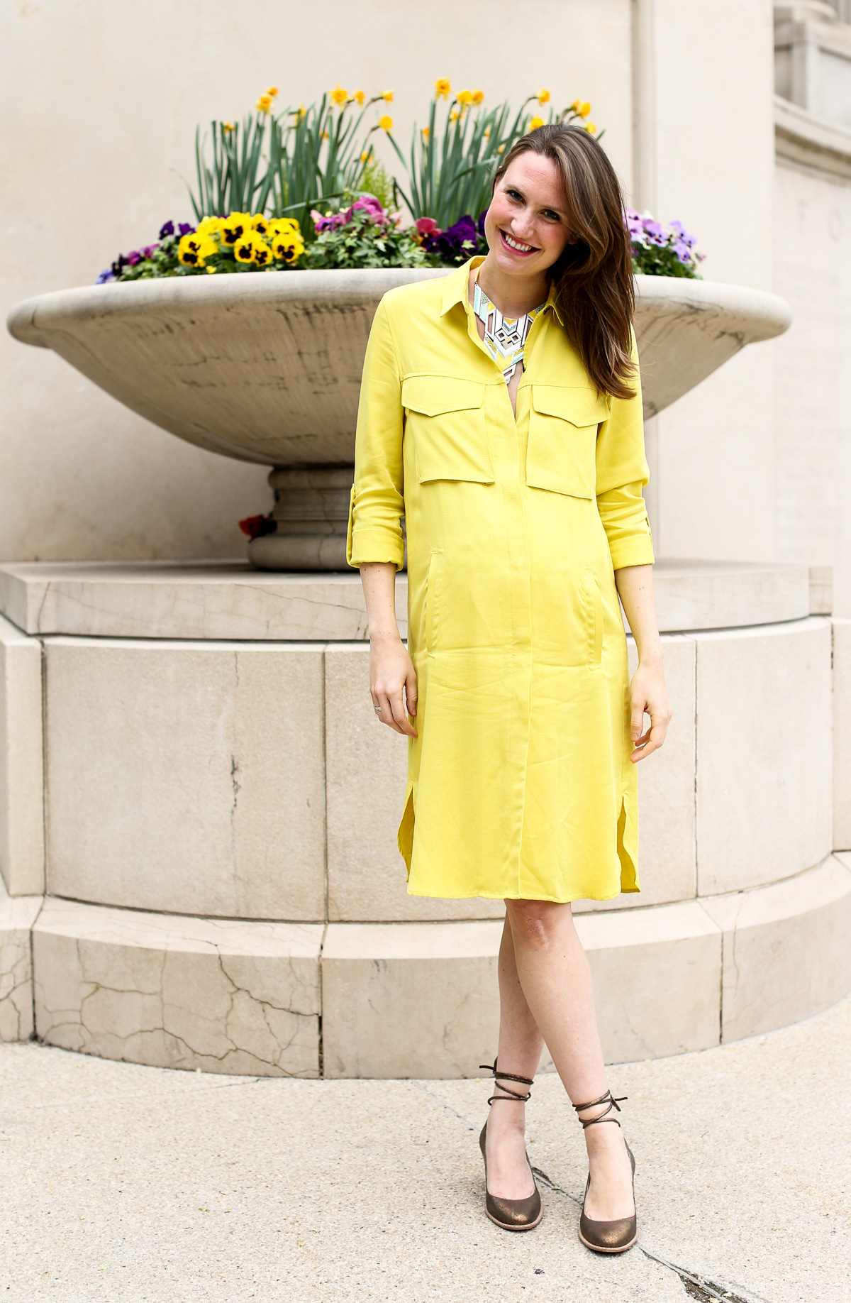 Pregnancy Fashion_Zara dress_Top Chicago Style Bloggers-4