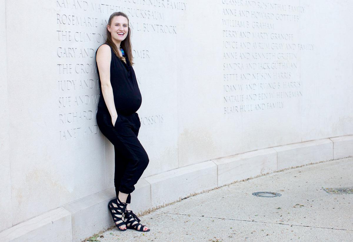Black jumpsuit_Pregnancy Style-9