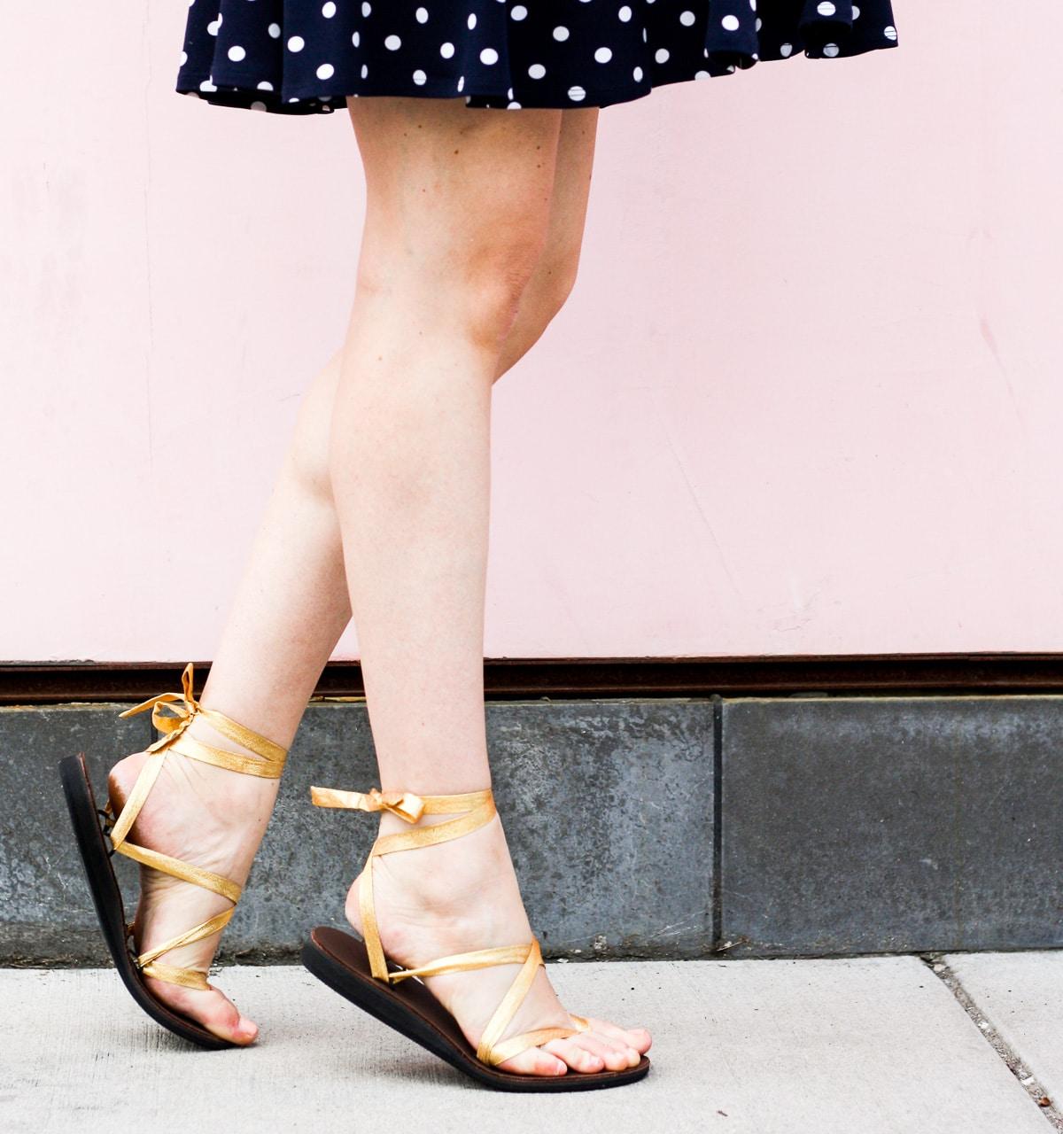 Sseko Gold Sandals