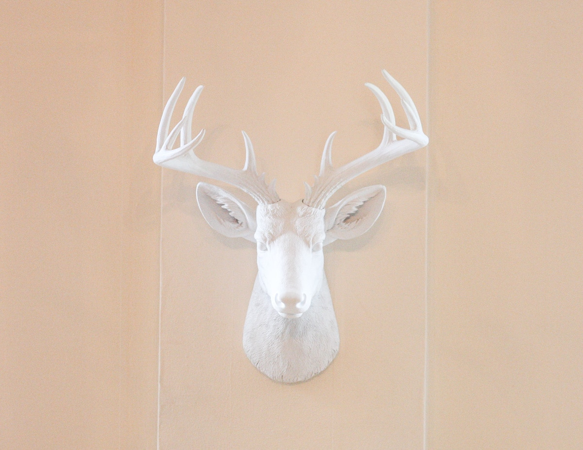 White Faux Taxidermy_Top Interior Design Blog-2