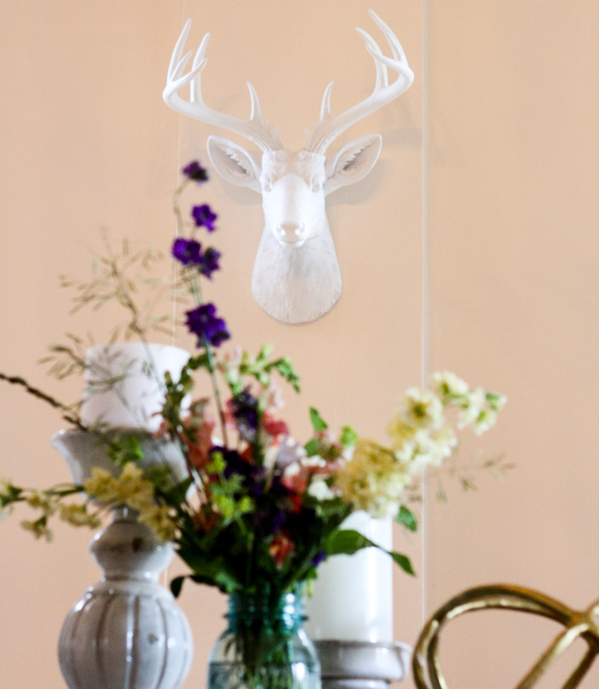 White Faux Taxidermy_Top Interior Design Blog-4