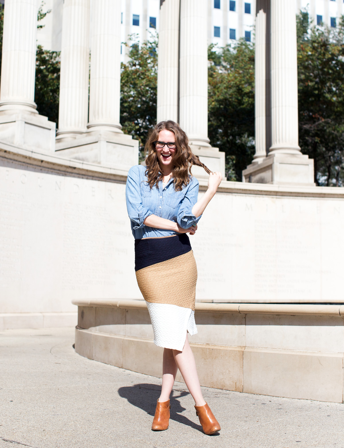 Anthropologie skirt_Top US Fashion Bloggers_Chicago Fashion Bloggers_How to style chambray-10