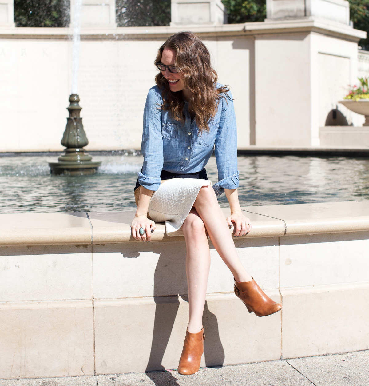 Anthropologie skirt_Top US Fashion Bloggers_Chicago Fashion Bloggers_How to style chambray-12