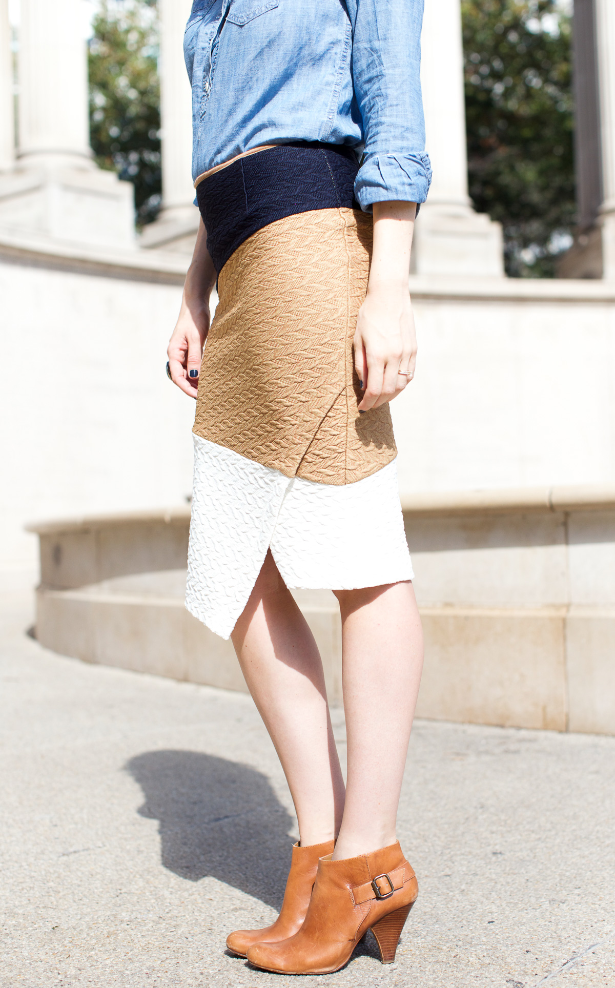 Anthropologie skirt_Top US Fashion Bloggers_Chicago Fashion Bloggers_How to style chambray-4
