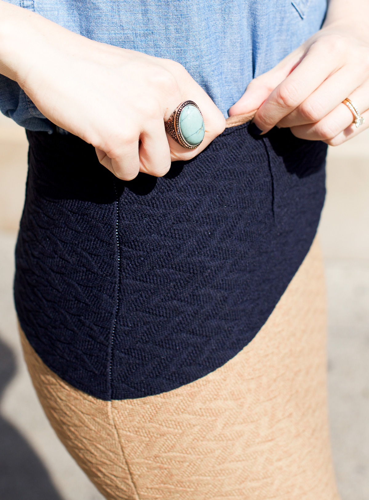 Anthropologie skirt_Top US Fashion Bloggers_Chicago Fashion Bloggers_How to style chambray-7