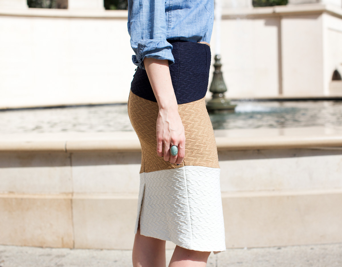 Anthropologie skirt_Top US Fashion Bloggers_Chicago Fashion Bloggers_How to style chambray-8