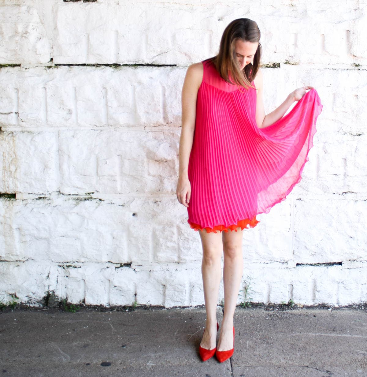 Anthropologie_Top Fashion Bloggers in US_Pink Dress_Dresses for Wedding Season