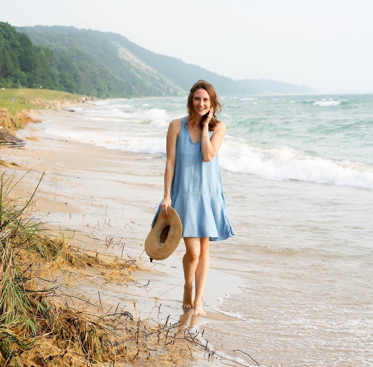 Lake Michigan_Chambray Dress_Top Bloggers in Michigan-3