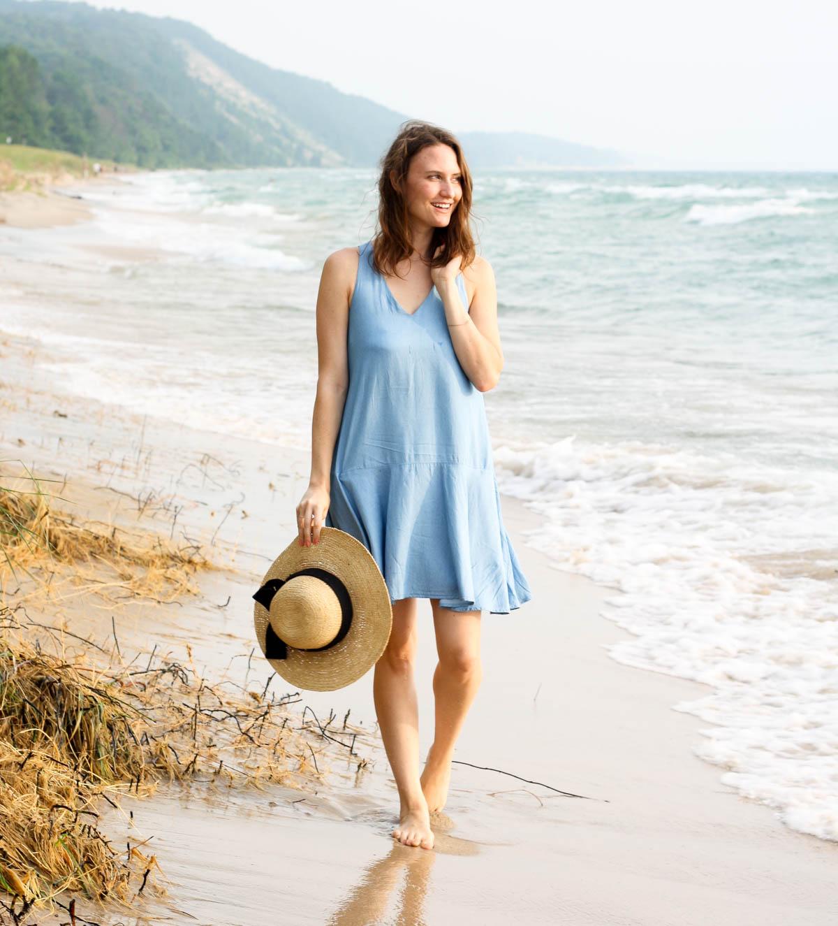 Lake Michigan_Chambray Dress_Top Bloggers in Michigan-4