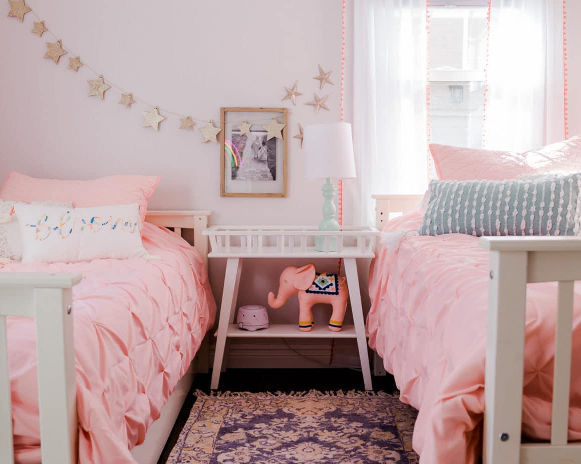 Shared Kids Room Decor Reveal Grace And Josephine S